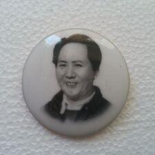China Culture Revolution Porcelain Mao badge 50 mm
