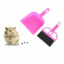 Cleaning Sweep Kit Plastic Hamster Dustpan Broom Guinea Pig Rabbit Pet Tools