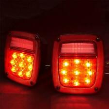 LED Tail Lights For 76-06 Jeep Wrangler CJ / YJ / TJ Tail Brake Turn Signal Lamp