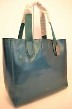 21114fea2 $350 NWT COACH METALLIC LARGE DERBY LEATHER TOTE in DARK TEAL