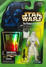 STAR WARS POTF SERIES GREEN HOLOGRAM CARD SNOWTROOPER  FIGURE