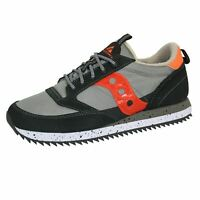 SAUCONY JAZZ ORIGINAL VINTAGE MENS GREY DOVE ORANGE TRAINERS