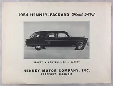 Orig 1954 Car Auto Brochure Henney-Packard Model 5493 Hearse Limo Funeral Car