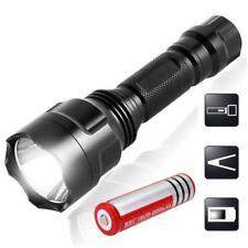 2200LM   Q5 LED C8 Flashlight Torch Lamp Light + 18650 Battery Br