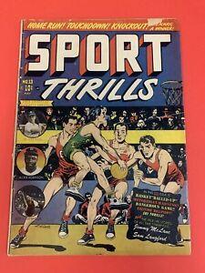 SPORT THRILLS # 13 (1951) STAR COMICS - LB COLE COVER - GOLDEN AGE  COMIC BOOK