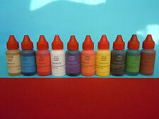 Resin epoxy color pigments, colorants  set of  10 liquid colors epoxy  pigments