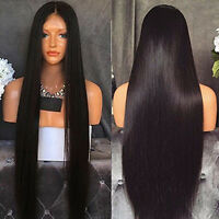 Front Lace Wig Full Wigs 100% Virgin Brazilian Human Hair Wigs Silky Straight