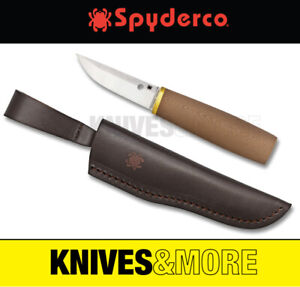 New SPYDERCO PUUKKO G-10 Plain Blade Knife BROWN FB28GBNP Save!