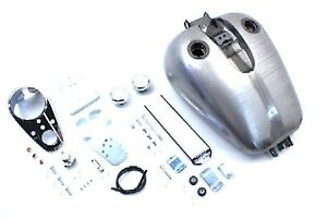 Bobbed 4.0 Gallon Gas Tank Kit for Harley Dyna 1995-2005 Carbed 38-0190