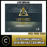 2018 PANINI LUMINANCE FOOTBALL 6 BOX - HALF CASE BREAK #F024 - PICK YOUR TEAM