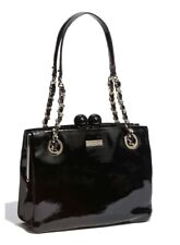 KATE SPADE NEW YORK AUTH $498 Women's Black Patent Leather Darcy Shoulder Bag