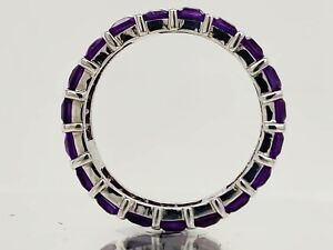 3.55Gms 925 Sterling Silver Purple Amethyst 8 US Purple Amethyst Ring SEE VIDEO