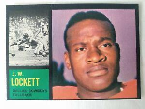 1962 Topps #40 J.W. Lockett Cowboys SP rookie card- EX+