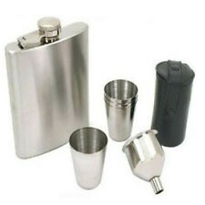 7 Ounce Capacity Stainless Steel Flask With 4 Shot Glasses Cups