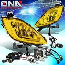 YELLOW AMBER LENS BUMPER FOG LIGHT+SWITCH+BULB+3000K HID KIT FIT 11-13 MD/UD