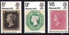 GB 1970 'Philympia' Stamp Exhibition Complete Set SG835 - SG837 Unmounted Mint