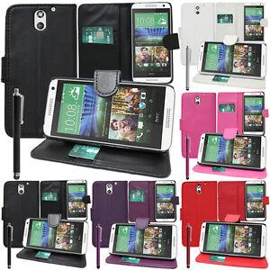 Schutz Hülle für HTC Desire 610 Handy Brieftasche Flip Case Cover Etui Schale