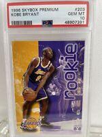 🔥 1996-97 SkyBox Premium #203 Kobe Bryant RC Rookie PSA10 GEM MINT New Case