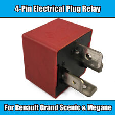 1x Red 4 Pin Relay For Renault Grand Scenic 12v 60A Electrical Plug Relay