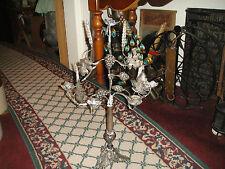 Superb Silver Metal Candelabra Candle Holder-Grapes & Leaves-Holds 5 Candles-#2