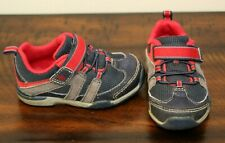 Stride Rite Navy Sneakers sz 5 Toddler Boys Shoes Made to Play Moss Red Washable