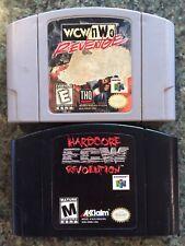 Lot of 2 Games: WCW Revenge & ECW Hardcore Revolution Nintendo 64, N64 - Tested