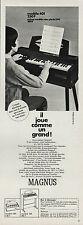 PUBLICITE  ORGUE ELECTRIQUE MAGNUS ELEVE  PIANO  INSTRUMENT DE MUSIQUE  AD  1969