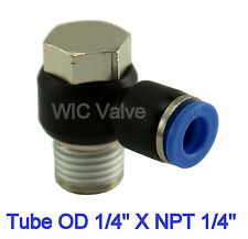 5pcs Universal Male Elbow Connector Tube OD 1/4