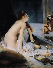 Oil painting female portraits Bathing young women in Turkish bath Hand painted