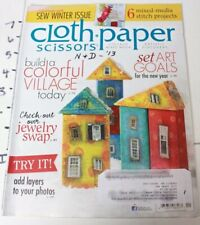 Cloth Paper Scissors Card Collage Art Print Magazine '13 Back Issue Mixed Media