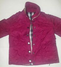 BURBERRY Kids Girls Quilted Classic Jacket Size 4Y  Red