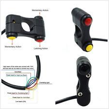 "12V Universal 7/8"" 22mm Motorcycle ATV Handlebar Headlight Horn Switch 3-Buttons"