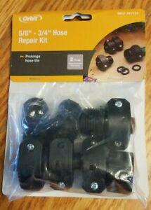 Orbit 27949-03 Garden Hose Repair Kit Black Plastic mender male female coupler