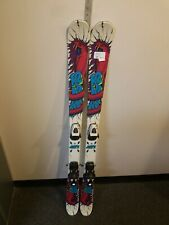K2 Juvy Twin-tip Skis With Bindings Salomon Size 135 Cm