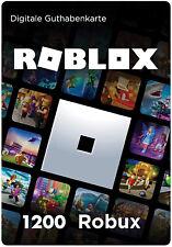 ROBLOX Gift Card Guthaben Geschenkkarte Voucher Code   1200 Robux   - per Mail