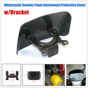 1×Scooter Bike Front Instrument Meter Protective Cover Square Wind Screen Shell