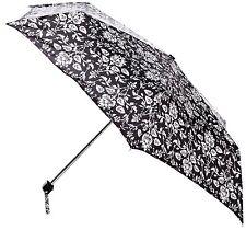 Fulton Ladies Compact Flat Umbrella Wallpaper Floral Design