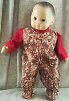 "6 1//2/"" High  Gingerbread Boy Primitive Brown Muslin Craft Doll"