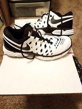 Nike Lunar Fingertrap TR Athletic Shoes - Men's Size 8W, White/Black EUC
