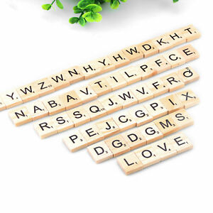 Wooden Pick And Mix *CHOOSE YOUR OWN* Scrabble Letters Tiles & Numbers 0-9@&/*Sc