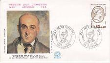 Enveloppe 1er jour FDC n°977 - 1976 : Max Jacob Ecrivain Français