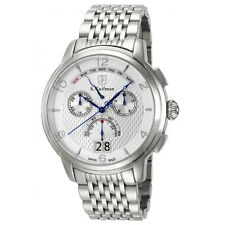 S. Coifman SC0183 Mens Silver Dial Steel Bracelet Chrono Day Date Watch