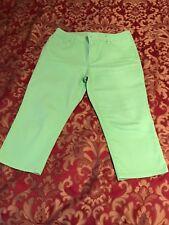 "chicos capri 2.5 Womens Jeans, Green, Inseam 20"",  Cotton Blend."