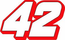 #42 Kyle Larson Racing Sticker Decal, S to XL - White/Red, Red/White, White/Blue