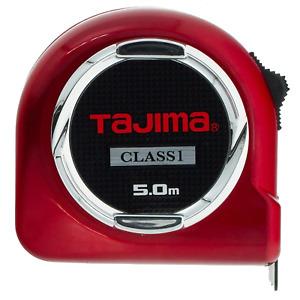 """Tajima H1550MW Class 1""""Hi Lock Measuring Tape, Red, 5 m x 25 mm"""