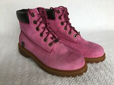 Timberland Boots Susan G Komen Breast Cancer Special Edition Boys Size 4 Pink