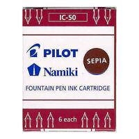 Pilot Namiki Fountain Pen Ink Cartridge - Sepia - 6pk Refill