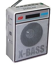 SONILEX  X-BASS SL414 FM PORTABLE FM TRANSISTOR/RADIO/USB/SD MP3 PLAYER+DISPLAY