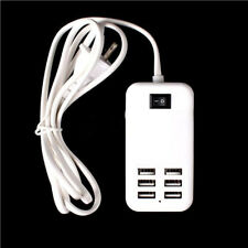 6 Ports Wall USB Charger Tablet Charging Multiple Mobile Phone Smart Adapter