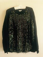 WITCHERY Black Jumper With Gold Sequins Size XL BNWOT $129.95.